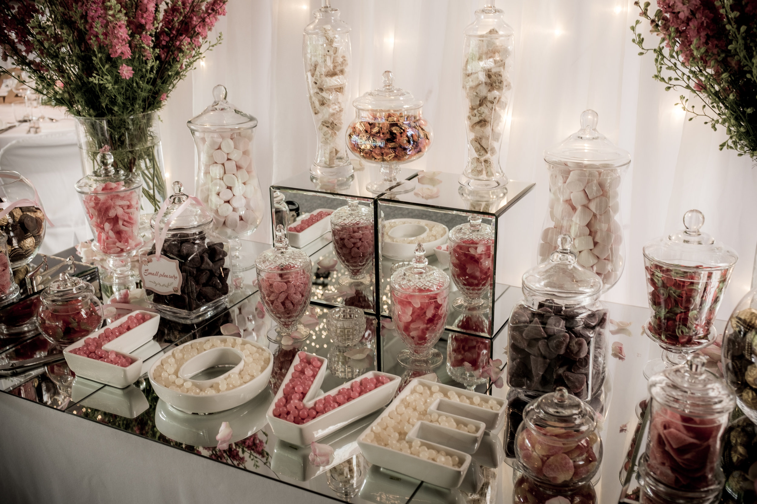 Scénographie candy bar mariage